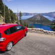 Pitstop at Crater Lake — Stock Photo