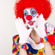 Clown Announcement — Stock Photo