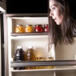 Fridge Raid - Stock Photo