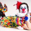 Stock Photo: Laying clown