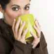Winter Sipping - Stock Photo