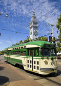 Cable Car at the Ferry Building — Stock Photo