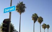 Sunset Blvd — Stock Photo
