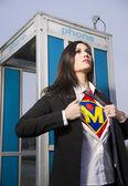 超级妈妈 — 图库照片