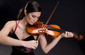Beautiful Violinist — Stock Photo