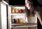 Fridge Raid — Stock Photo