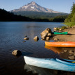 Boats on a Mountain Lake — Stock Photo #12491580