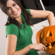 Stock Photo: Pumkin Carving