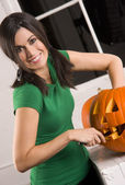 Pumkin Carving — Stock Photo