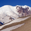 Mt. Rainier from Burroughs Mountain - Stock Photo