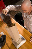 Coffee Packing — Stock Photo