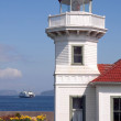 West Coast Lighthouse Ferry Puget Sound Washington — Stock Photo