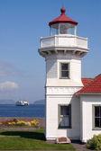 West Coast Lighthouse Ferry Puget Sound Washington — Stock Photo
