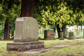 Granite Gravestone Headstone Grave Marker Urban Cemetery — Stock Photo
