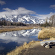 Snake River and the Grand Teton - Stock Photo