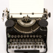 Obsolete Vintage Typewriter Staged on White Background — Stock Photo