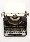 Obsolete Vintage Typewriter Staged on White Background — Stock Photo