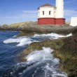 Coquille River Lighthouse Pacific Ocean Coast — Stock Photo