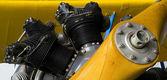 Hélice de motor de avião de cabeça de cilindro — Fotografia Stock