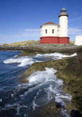 Coquille River Lighthouse Pacific Ocean Coast — Stockfoto