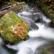 Munson Creek Long Exposure Big Rocks in River — Stock Photo