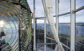 Lighthouse Lens First Order Fresnel Historic West Coast Light — Stock Photo