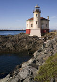 Coquille River Lighthouse Pacific Ocean West Coast Oregon State USA — Stock Photo