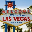 Stock Photo: Welcome To Las Vegas NevadSkyline City Limit Street Sign
