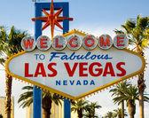 Welcome To Las Vegas Nevada Skyline City Limit Street Sign — Stock Photo