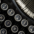 Vintage Typewriter Keyboard Macro Puch Buttons — Stock Photo