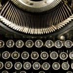 Vintage Typewriter Keyboard Close Up — Stock Photo