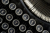 Vintage Typewriter Keyboard Macro Puch Buttons — Stock Photo
