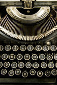 Vintage Typewriter Keyboard Close Up — Stock Photo