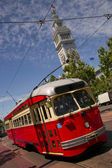 Bright Colored Trolley In San Francisco — Stock Photo