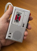 Audio Recorder using Tape the Old Fashioned Way — Stock Photo