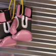 ������, ������: Pink Boxing Gloves Hanging on a Hook