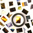 Mounted Slide Film and Loupe Sitting on The Lightbox — Stock Photo #21027627