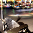 A Vehicle Stands Unused in Bumper Cars at the Fair — Stok fotoğraf