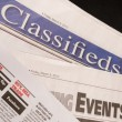 Classified Help Wanted Job Offered Ads in Traditional Print News - Photo