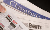 Classified Help Wanted Job Offered Ads in Traditional Print News — Photo