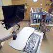 Computer Work Station in Childrens Hospital Medical Recovery Roo - Stok fotoğraf