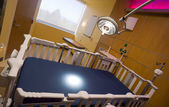 Children's Hospital Recovery Room Bed Examination Light Burning — Stock Photo