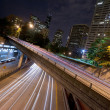 Interstate 5 Travels Underneath Roads Parks Buildings Seattle Wa - Stock Photo