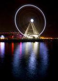 The Seattle Great Wheel Over Puget Sound Seattle Washington — Stock Photo