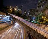 Interstate 5 Travels Underneath Roads Parks Buildings Seattle Wa — ストック写真