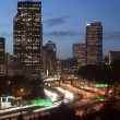 Buildings City Downtown Seattle Washington Interstate 5 Sunset V — Stock Photo #25231711