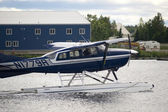Seaplane Taxis Takeoff Lake Hood Ted Stevens National Airport Anchorage — Foto de Stock