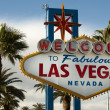 welcome to las vegas nevada skyline city limit street sign — Stock Photo
