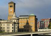 Stary ratusz i innych budynków w centrum tacoma washington — Zdjęcie stockowe