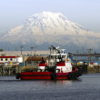 Tugboat Guide Vessel Waterfront Bay TheFoss Waterway Rainier — Stock Photo #26509155